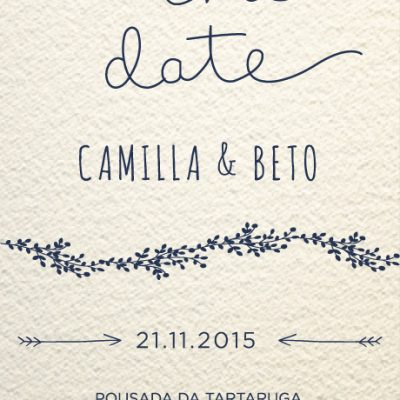 Camilla e Beto - Save The Date - MIA Estúdio Criativo